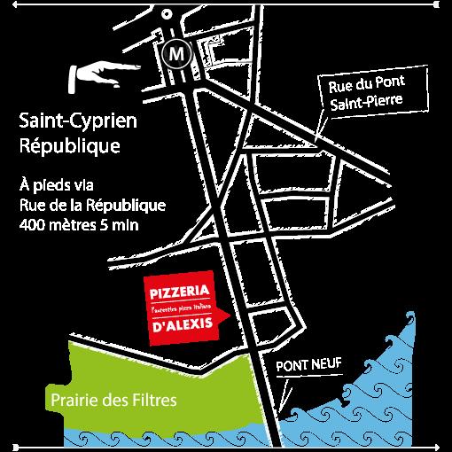 Route Pizzeria d'Alexis